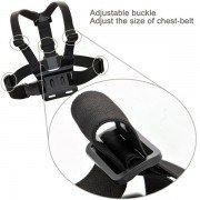 Adjustable Head Strap Mount + Chest Harness Belt Strap + Aluminum Thumbscrew + J-Hook for Gopro , sjcam , SJ4000 SJ5000 2